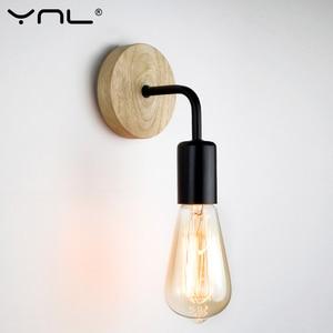Wood Industrial Loft Wall Lamp