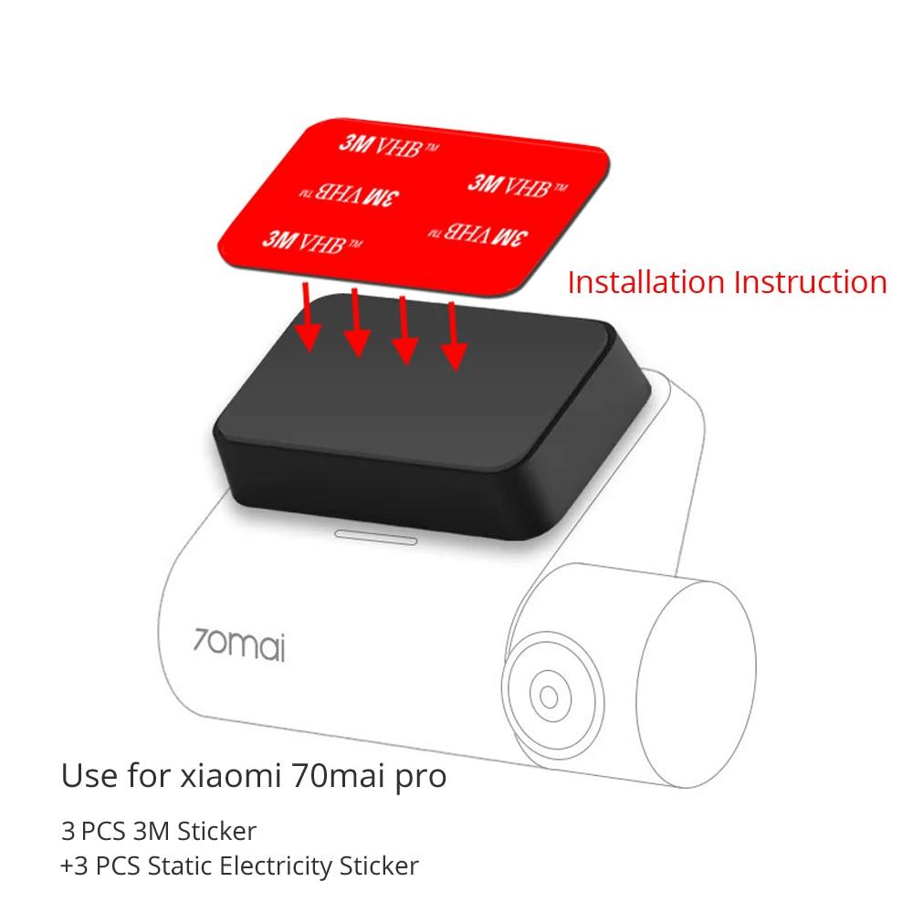 3 PCS 3M Sticker Mount With 3 PCS Static Electricity Sticker Use For Xiaomi 70Mai Pro Car Camera Dash Kamera DVR Holder