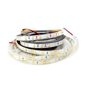 Outdoor 12V Single LED Strip Waterproof Flexible Tape Neon SMD 5630 5M Tape LED Strip Light 12V Ambilight For PC TV Backlight лазер светодиодная линейка 5630 72 led daywhite 12v