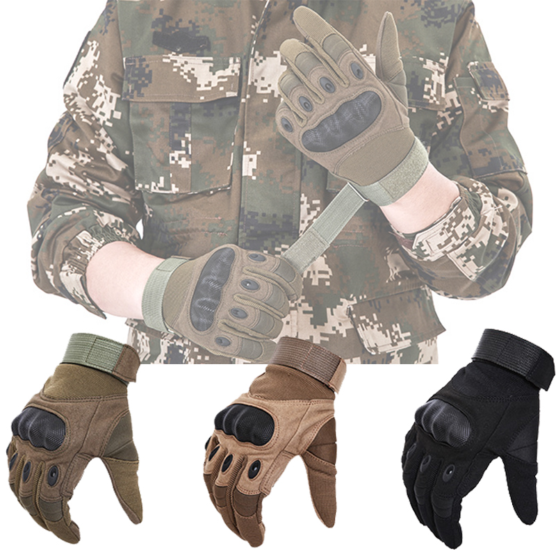 Mens Military Tactic GlovesFull Finger Gants Airsoft Armor Protection Hiking Cycling Shooting Gloves Guantes Tactico