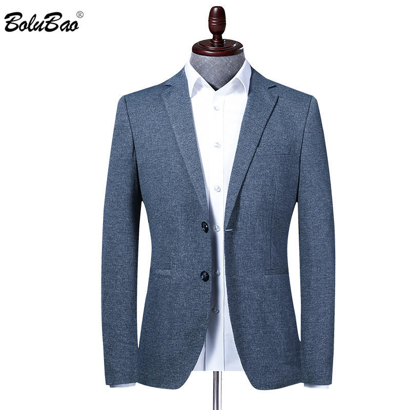 BOLUBAO New Men Blazer Jacket Comfortable Prom Solid Color Men's Suit Fashion High Quality Brand Business Tuxedo Blazers Male