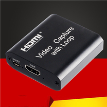 Novo hd 1080p 4k hdmi placa de captura de vídeo hdmi para usb 2.0 captura de vídeo placa de jogo registro streaming ao vivo transmissão loop local para fora