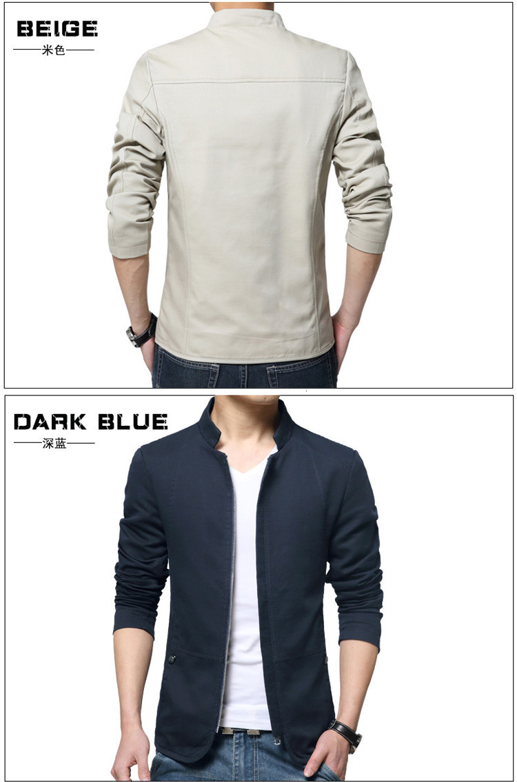 Hee46793a07134a05adf3a8848aee742bh Autumn Cotton Jacket Men Slim Casual Baseball Jackets For Men Stand Collar With Zipper Coat Homme Fashion Men Clothing M-5XL