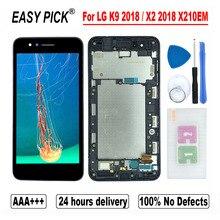 ЖК дисплей для LG K9 X210EM X210K X210L X210S X210E X210NMW, кодирующий преобразователь сенсорного экрана в сборе для LG X2 2018 X210 ZM X210JM