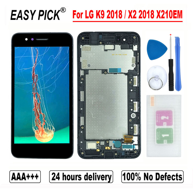 ل LG K9 X210EM X210K X210L X210S X210E X210NMW شاشة الكريستال السائل مجموعة المحولات الرقمية لشاشة تعمل بلمس ل LG X2 2018 X210 ZM X210JM