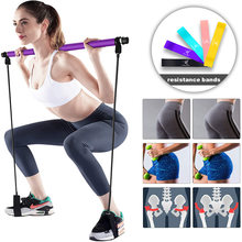 Pilates Bar Kit with Resistance Band Portable Pilates Exercise Stick Muscle Toning Bar Home Gym Pilates for Workout Bodybuilding