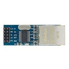 10 Uds mini ENC28J60 LAN de red Ethernet Junta módulo 25MHZ cristal AVR 51 LPC 3,3 V