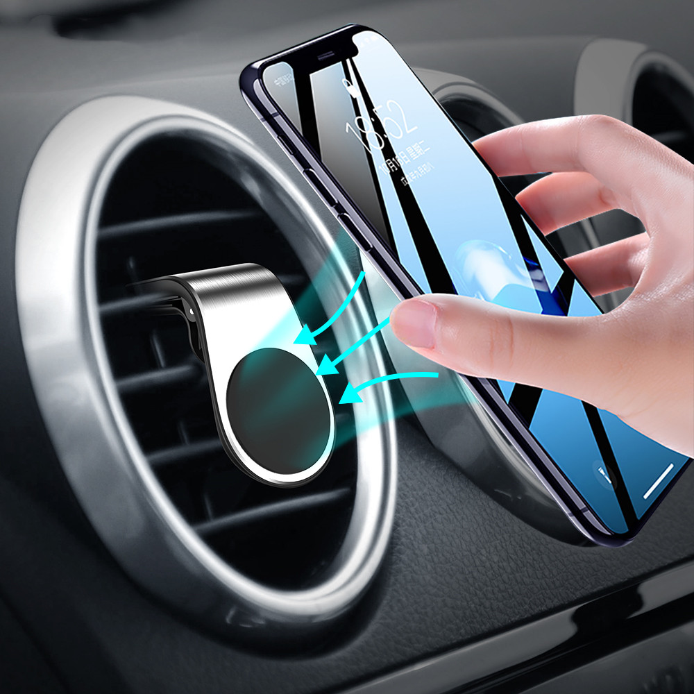 Metal Strong Magnetic Car Phone Holder Universal Magnet For IPhone XS MAX X 8 7 6 Plus Xiaomi Samsung 360 Degree Air Vent Mount