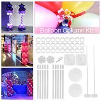 DIY Balloon Column Kit Plastic Balloons Column Stand Frame Base Pole Balloon Clips Birthday Wedding Party Decoration Dropship