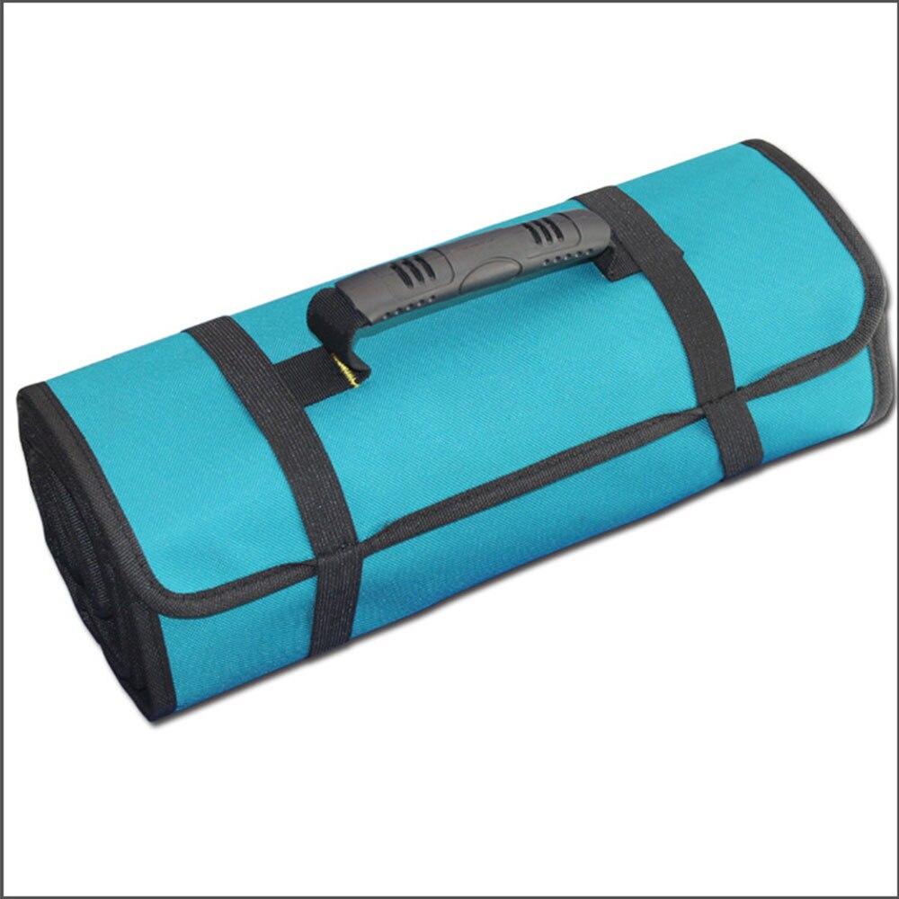 Сумка для инструментов, ткань Оксфорд, синяя фурнитура, водонепроницаемые ремонтные комплекты, сумка, инструментарий, многофункциональная