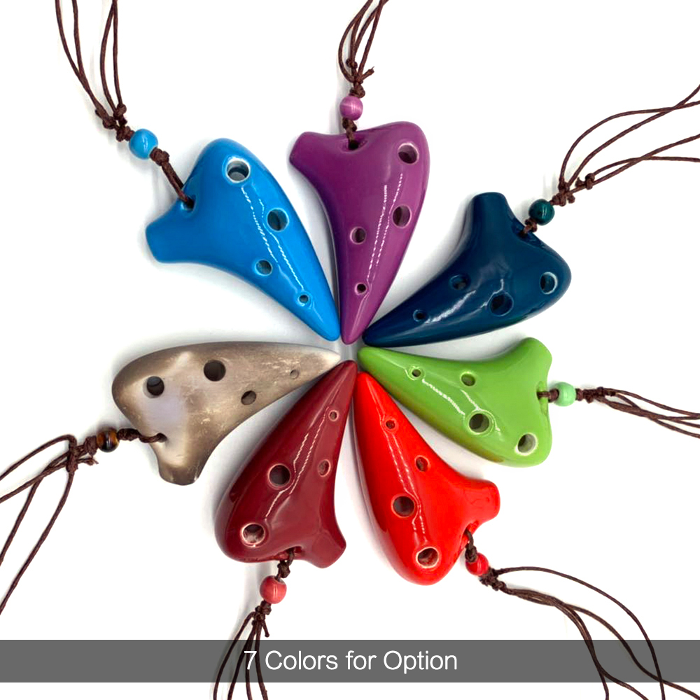 6 Holes Ceramic Ocarina Alto C Submarine Style Musical Instrument With Lanyard Music Score For Music Lover And Beginner