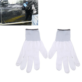Anti-static Window Tint Car Wrap Gloves 1 Pair Painting Work Gloves Cotton Car Stickers Film Install Tools image