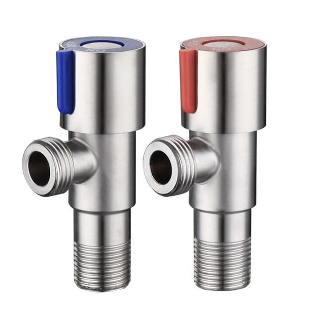 SUS304 запорные клапаны из нержавеющей стали с выключенным выключателем G1/2, запорный клапан холодной и горячей воды для ванной комнаты, ракови...
