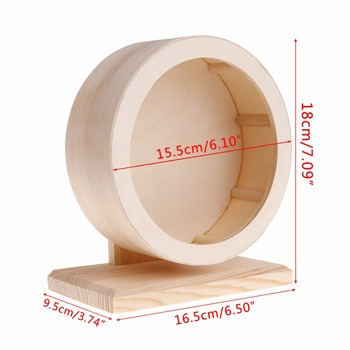 Hamster Roller Wheel Natural Wood Play Toys Chinchilla Guinea Pig Squirrel Toy Rotate Running Exercise For Small Pets Bogie 5