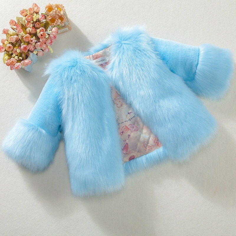 Kids Girls Winter Fur Coat 2019 Elegant Warm Teenage Girl Faux Fur Jackets Outerwear Thick Baby Girl Parkas Children Clothing