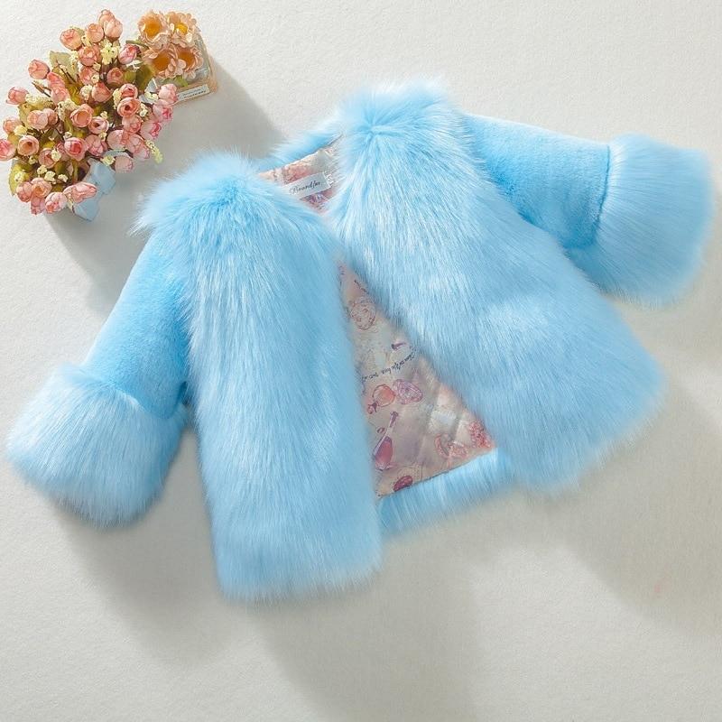 Kids Girls Winter Fur Coat 2019 Elegant Warm Teenage Girl Faux Fur Jackets Outerwear Thick Baby Girl Parkas Children Clothing