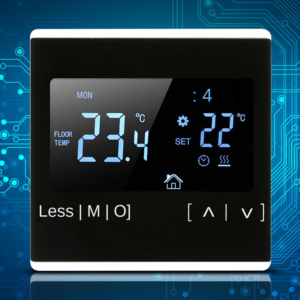 Temperature Controller Room Thermostat Back Light All Black 110V 120V 230V Floor Heating Parts Electric Thermoregulator Touch