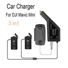 3 in1 mavic mini carregador de carro portátil para dji mavic mini drone bateria controle remoto viagem ao ar livre adaptador carregamento