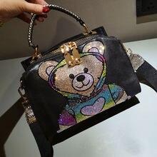 Colorido de impresión Animal, bolso de las mujeres de Lujo lindo Top mango Bolsos de hombro Tote bolso Bolsos Marca Mujer Lujo
