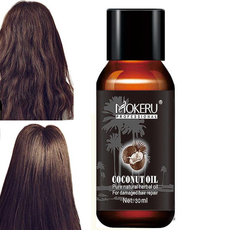 Mokeru 30ml Organic New Virgin Coconut Oil Hair Repairing Damaged Hair Growth Treatment Prevent Hair Loss Products For Woman Aliexpress