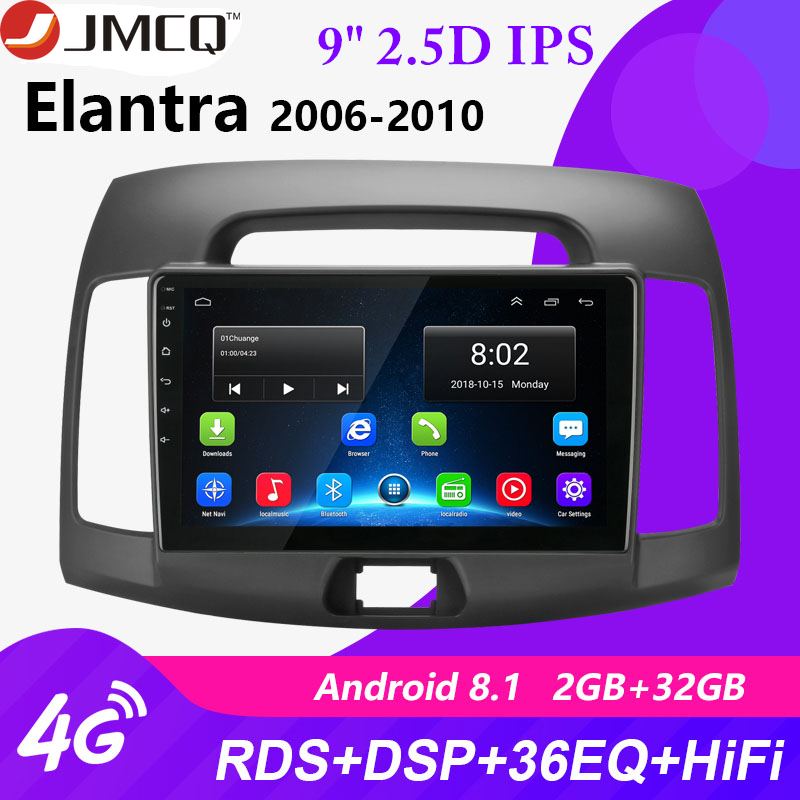 2G + 32G Android 8.1 4G Auto Radio Multimedia Video Player für <font><b>Hyundai</b></font> <font><b>Elantra</b></font> 4 HD 2006- <font><b>2010</b></font> Navigation GPS 2 Din Head Unit + Rahmen image