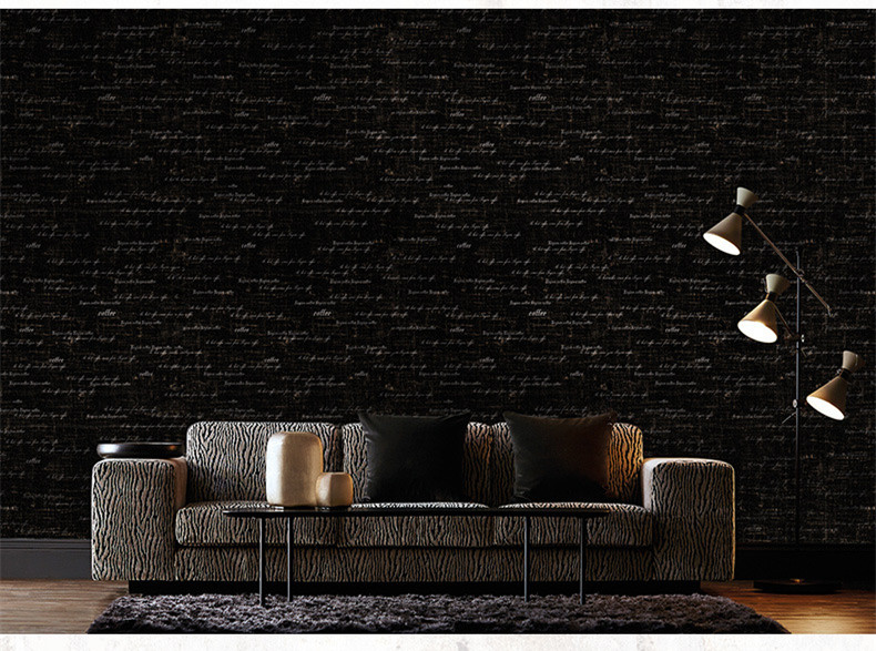 Rétro lettre papier peint Mural imperméable PVC vinyle papier peint rouleau pour la Texture de la pièce caractéristique bois Grain revêtements muraux décors de la maison