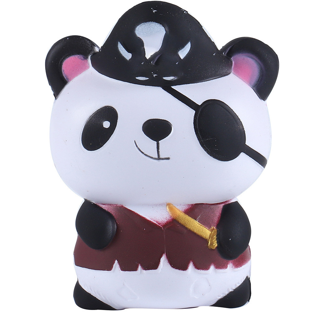 New Cartoon Pirate Panda Slow Rebound Decompression Toy Home Office Decorations Cute Christmas Gifts Toys For Children#B