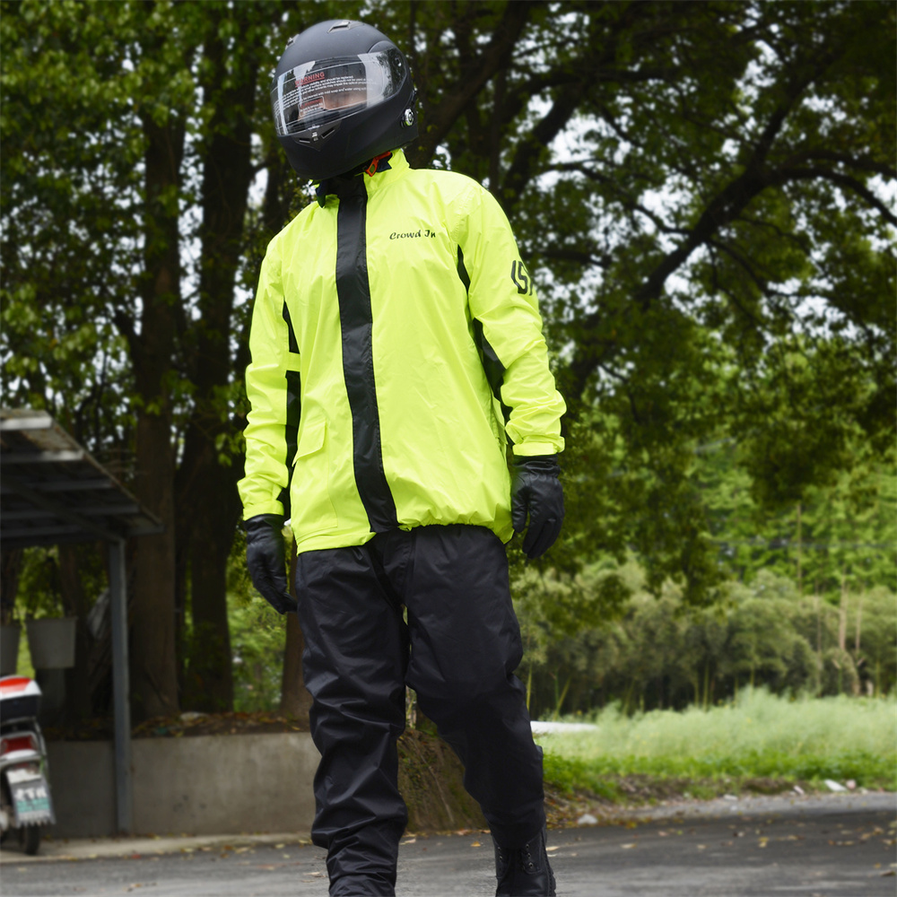 Moda motocicleta ciclismo engrossar capa de chuva