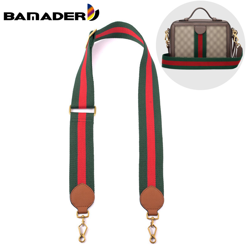 Gg Tiger Bag Shoulder Strap Canvas Stripe Plaid Wide Shoulder Strap Women's Adjustable Bag Strap High-quality Bag Accessories