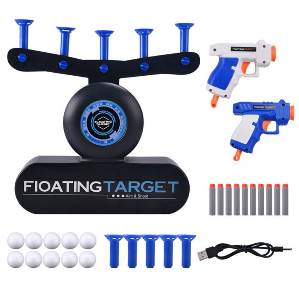Bola de flutuação elétrica tiro ao alvo prática jogos ar tiro brinquedo com 10 pçs bola para adultos crianças meninos festa jogo suprimentos