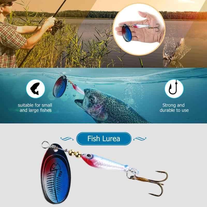 Hình Cá Xoay Spinner Mồi Đầm Mồi Dụ Cá Bionic Mồi Giả Bass Cứng Mồi Thìa Treble Móc Câu Dụng Cụ
