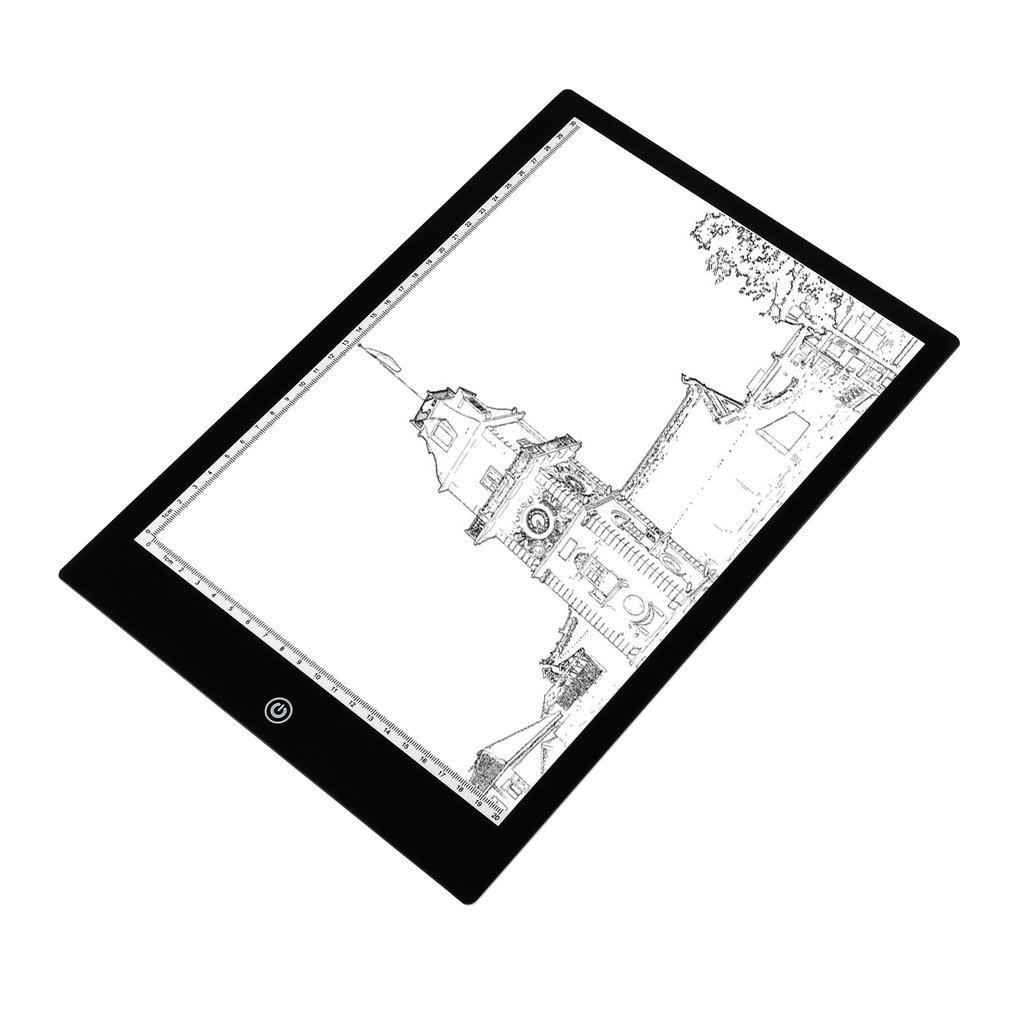 Acrylic 5mm Super Thin A4 Size Flicker Free LED Drawing Copy Tracing Stencil Board Table Tattoo Pad Translucent Light Box USB in Car Parking Equipment from Security Protection