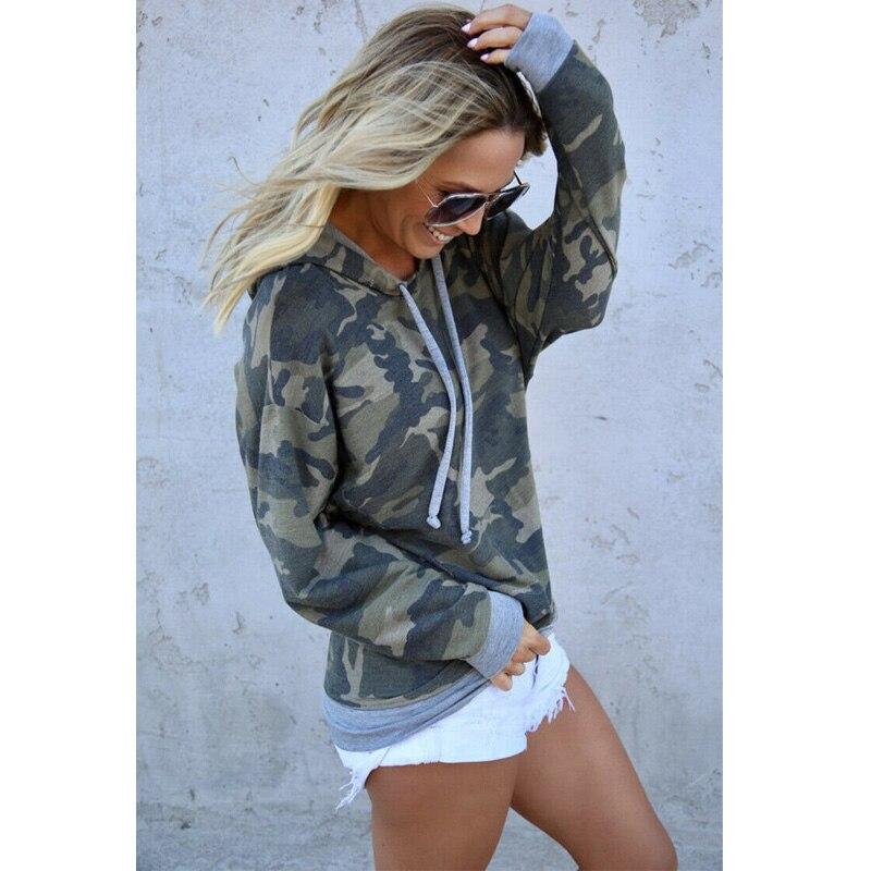 Women Sweatshirts Streetwear Camouflage Print Hoodies Pullovers 2019 Autumn Casual Long Sleeve O-Neck Tops Female Sweatshirt