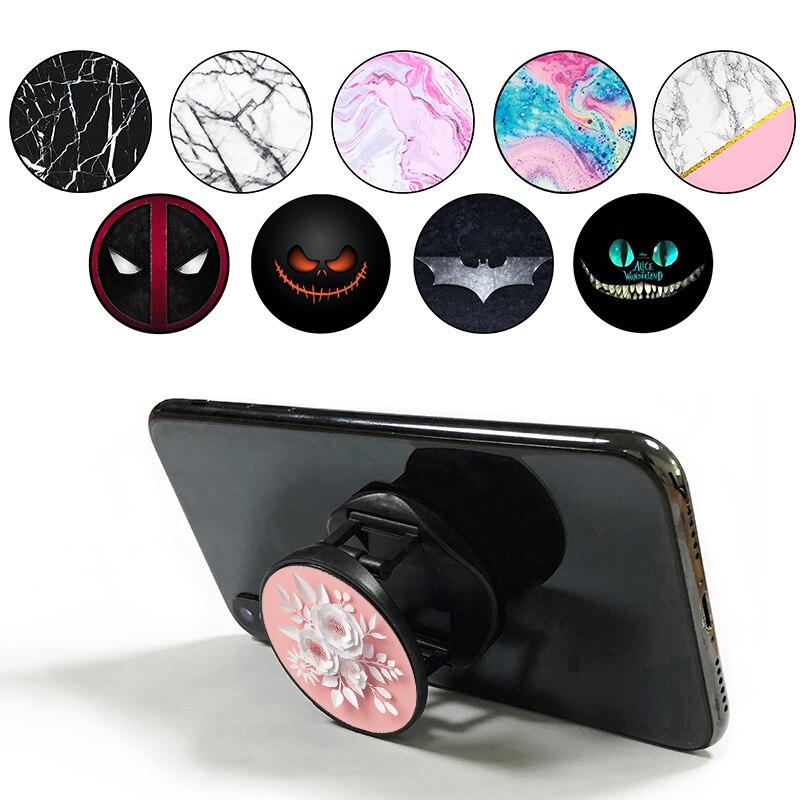 Marble Phone Holder Round Попсокеты Popular Foldable попсокет Pocket Socket Smartphones Suporte Celular Hand Ring Phone Socket