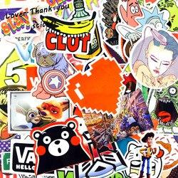 5000 шт наклейки смешанный стиль забавные наклейки с персонажами из мультфильмов холодильник каракули сноуборд багаж Декор Jdm бренд автомоби...