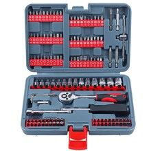 New 126-piece 1/4 Auto Repair Tool Set Imulti-functional Batch Head Screwdriver Head Set And Socket Ratchet Wrench Combination цена в Москве и Питере