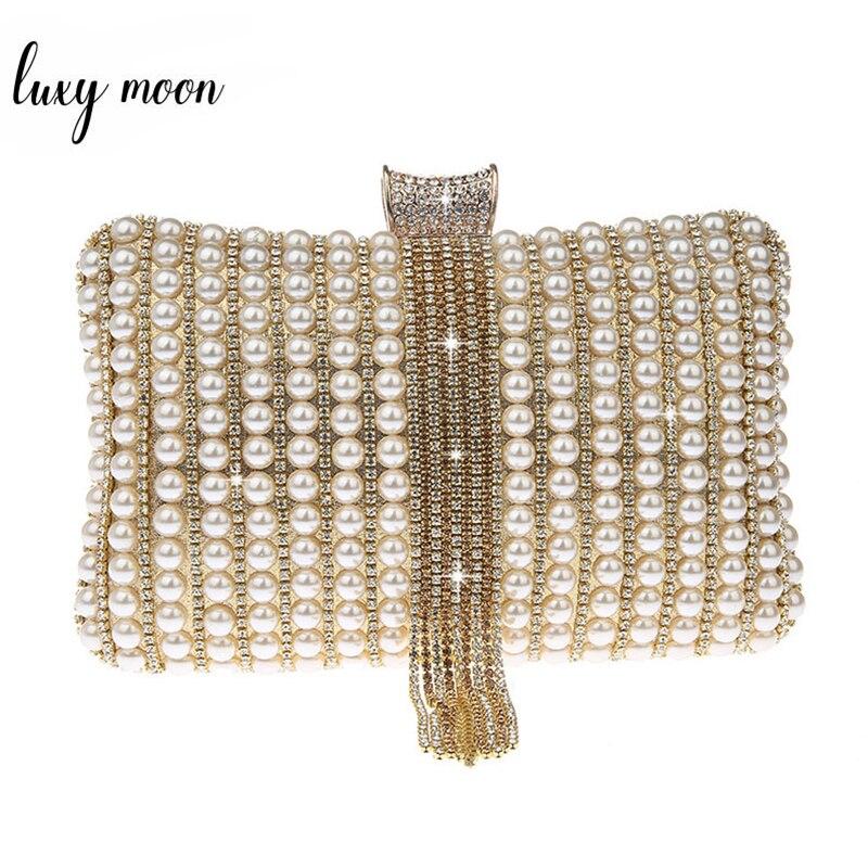 Small Clutch Bags For Women Evening Clutch Bag Pearl Wallet Wedding Bridal Clutch Purse And Handbag Chain Shoulder Bag ZD1375