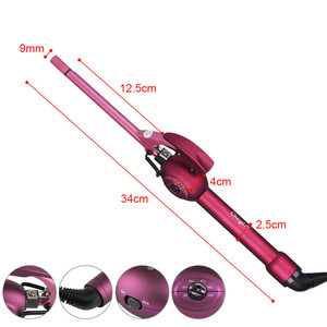 Image 2 - 9mm Deep Curly Hair Styler Curls Ceramic Curling Iron Fashion Wand Curler Pear Hair Curlers Rollers High Quaity Curling Wand 45