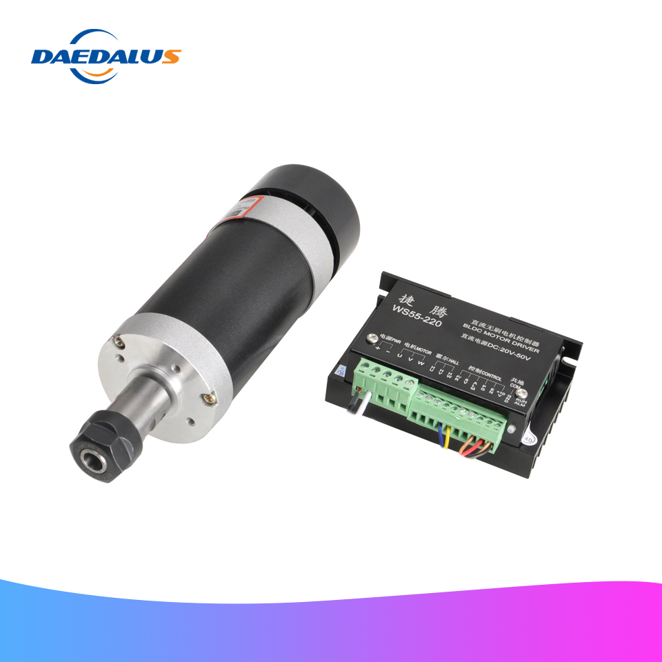 Brushless Spindle Motor 500W Air Cooled DC Machine Tool Spindle Router Motor Stepper Motor Driver Controller For Milling Machine