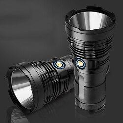 XANES XHP70.2 12800mAh بطارية حزمة 4800LM 5 طرق مصباح ليد بوحدة usb قابل لإعادة الشحن مصباح المصباح IPX6 للماء 18650 الشعلة فانوس