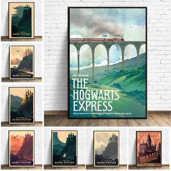 Harries Poster Movie Potteres Castle Wall Pictures For Living Room Posters Prints Decoration Art Canvas Painting  Unframed