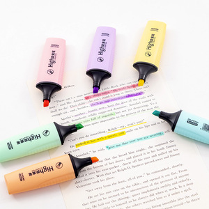 Macaroon Color Mini Colorful Highlighters Pastel Markers 6 Colors Single Text Focus Marker Pens for School Office