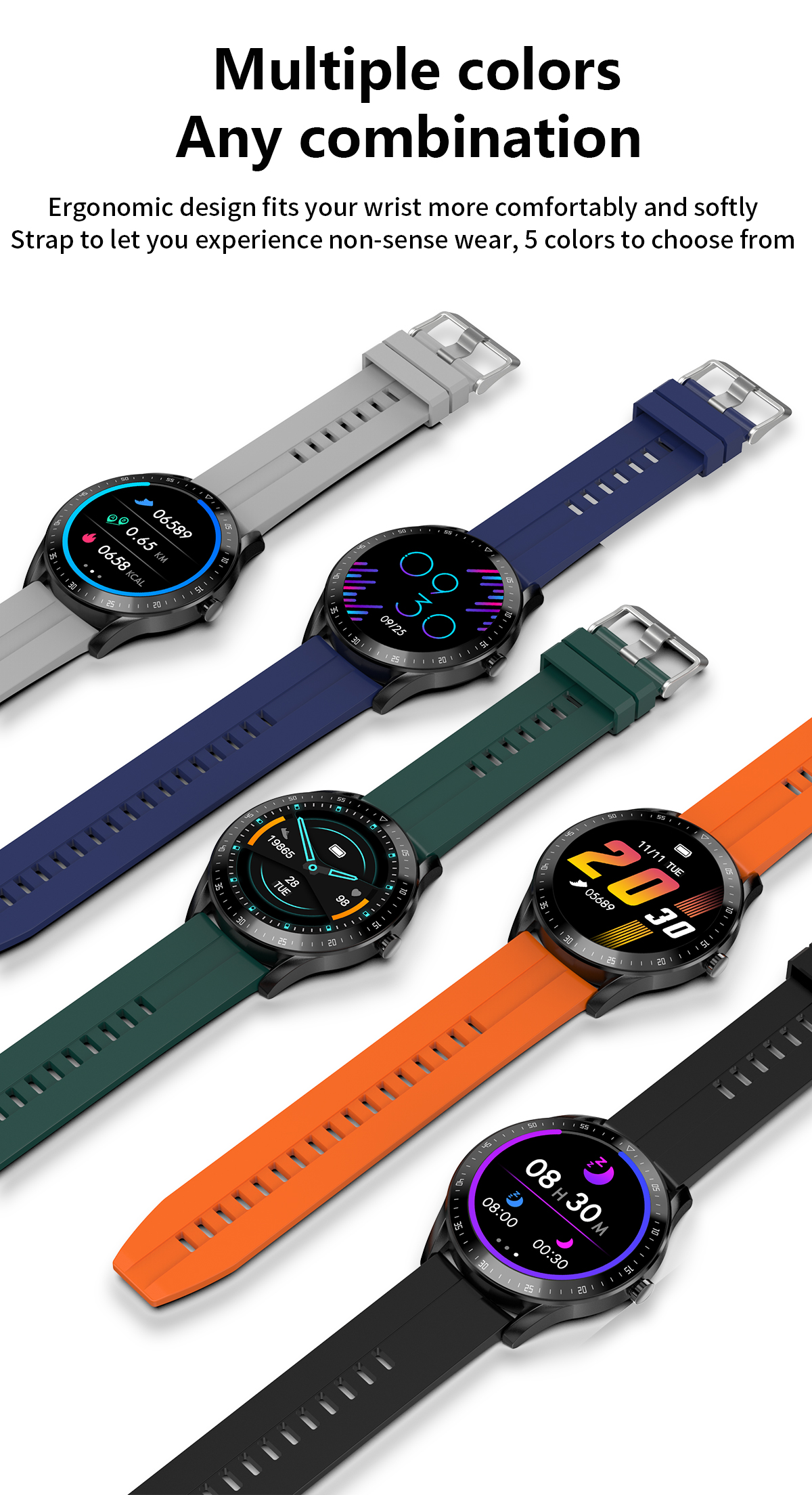 Hee4930600e824b08b4084b9b64801d0as LEMFO F15 Full Touch Screen Smart Watch Men 5D Case