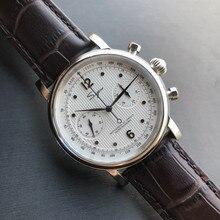 แฟชั่นRetro NATO Pilot Chronographนาฬิกาผู้ชายจริงST19 Seagull Sapphire Air Force Mensนาฬิกา