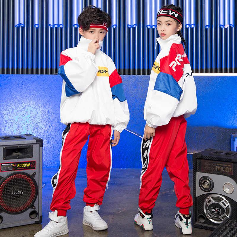 Jongens Meisjes Koreaanse Editie Losse Jas Broek Jazz Pak Kinderen Hiphop Dance Kleding Hip Hop Kostuums Kids Street Dance Outfit