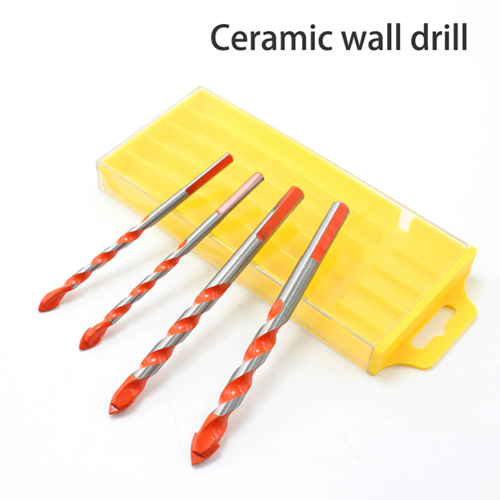5pcs/lot Drill Bit Set Wood Drill Set 3mm-12mm Ceramic Concrete Tungsten Carbide Drill Power Accessories Woodworking Tool