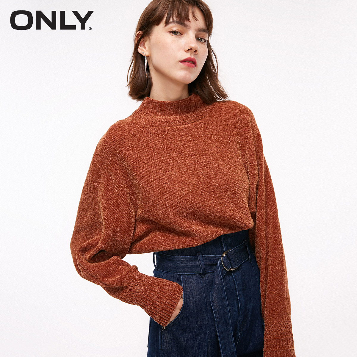 ONLY  Autumn Winter Women's Loose Fit Long-sleeved Pullover Knit  |  118313502