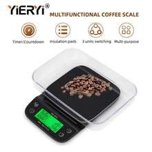 Электронные кухонные весы yieryi светодиодный ЖК дисплей с чашей