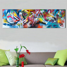 Abstract Oil Painting Wall Art Poster Abstract Background Living Room Home Decoration Print Canvas Frameless Oil Painting