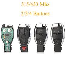 Kutery  2/3/4 Buttons Replacement Smart Car Key Fob 315/433Mhz For Mercedes Benz Car Remote Controller Year 2000